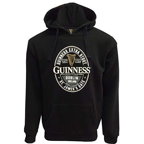 Guinness Black Label Kapuzenpullover St. James Gate - schwarz - X-Large Oval Logo Sweatshirt