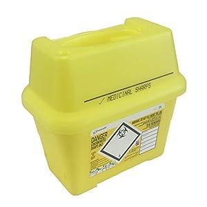 2L Sharpsafe Behälter für gelb Bio Hazard Klinge Spritze Nadel klinischen gekennzeichnet Müll Box mit scharfen Mülleimer