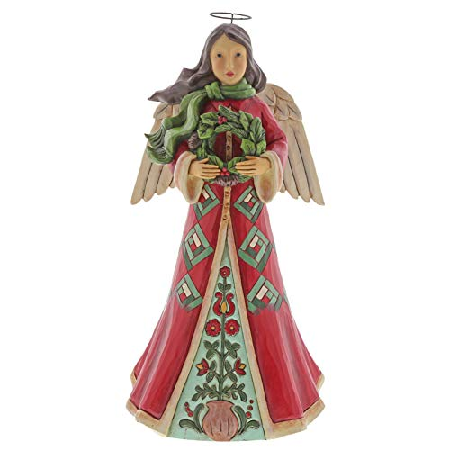 Heartwood Creek by Jim Shore Angel with Wreath Figurine -