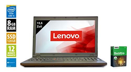 Lenovo ThinkPad L540 Notebook | 15,6 Zoll Display (1366x768) | Intel Core i5-4300M @ 2,6 GHz | 8GB DDR3 RAM | 128GB SSD | Windows 10 Home (Generalüberholt)