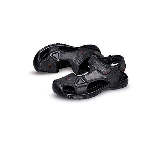 LYZGF Hommes Jeunes Été Pantoufles Occasionnels Mode Sandales de Plage Black