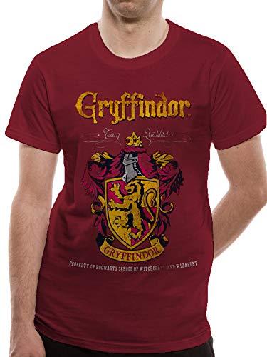 T-Shirt (Unisex-Xxl) Gryffindor Quidditch (Red)