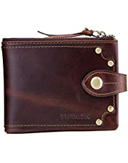 Contacts RFID Blocking Leather Brown Men's Wallet
