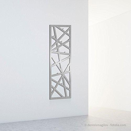 Thorwa® Design Edelstahl Wandgarderobe Dekohaken - Streifen vertikal (Edelstahl gebürstet)