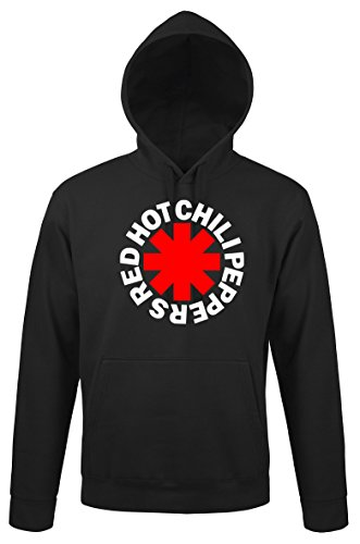TRVPPY Herren Hoodie Kapuzenpullover Modell Red Hot Chilli Peppers RHCP, Schwarz, L Red Youth Hoodie