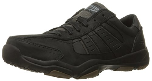 Skechers Men Larson-Nerick Low-Top Sneakers, Black (Blk), 10 UK 45 EU