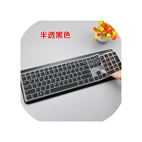 Tastaturfolie Keyboard Cover for Dell KM117 Wireless Keyboard Ultra Thin Silicone Dell Wireless Keyboard Protective Skin,Black