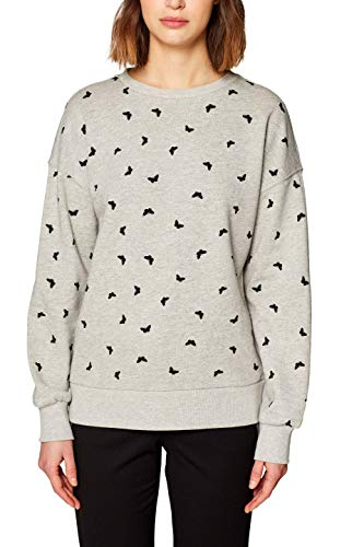 ESPRIT Damen 019EE1J011 Sweatshirt, Mehrfarbig (Light Grey 5 044), Small -