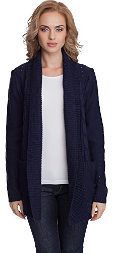Merry Style Donna Cardigan Vera (Blu Scuro, One size)