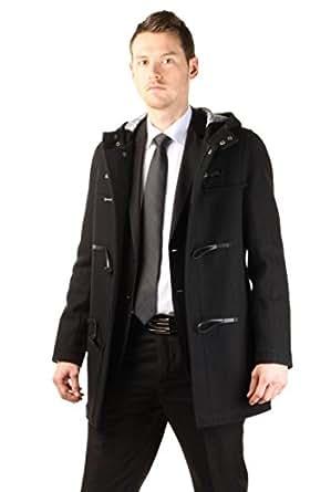manteau a capuche pour homme - Noir - 48