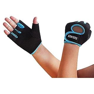 Ayouyou Anti-Rutsch-halbe Finger Handschuhe Unisex Cycling Bike Gel Handschuhe Half Finger Outdoor Sports Shockproof halbe Finger handschuh für Damen Herren Kinder Mädchen Jungen Teens