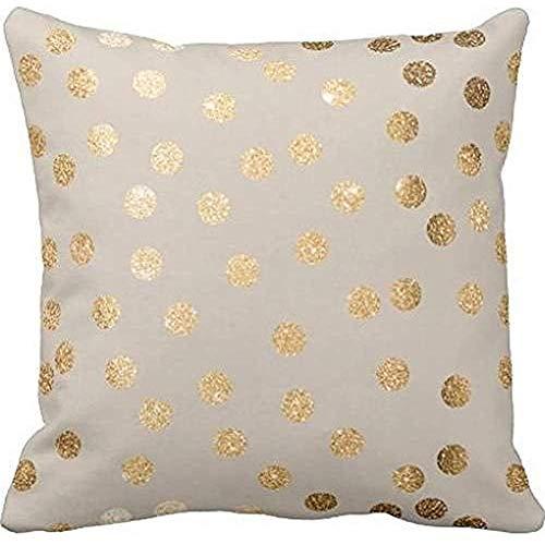 Dana34Malory - Funda de cojín Decorativa, diseño de Lunares, algodón, Lino, 40 x 40 cm (impresión), diseño de Lunares