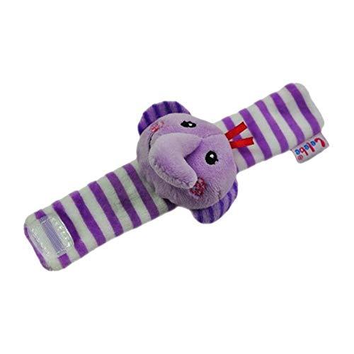 Instruments Baby Geschenk Spielzeug Baby Armband Rassel Glocke Armbanduhr (Elefant)