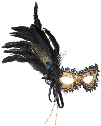 Widmann 1794G - Augenmaske Schildkröte mit Dekorationen und - Venezianische Augenmaske