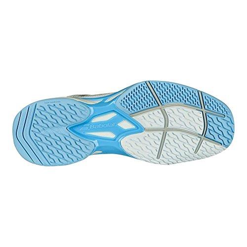 Babolat–Jet Mach I allcourt Donna Scarpe da tennis (bianco/azzurro) bianco