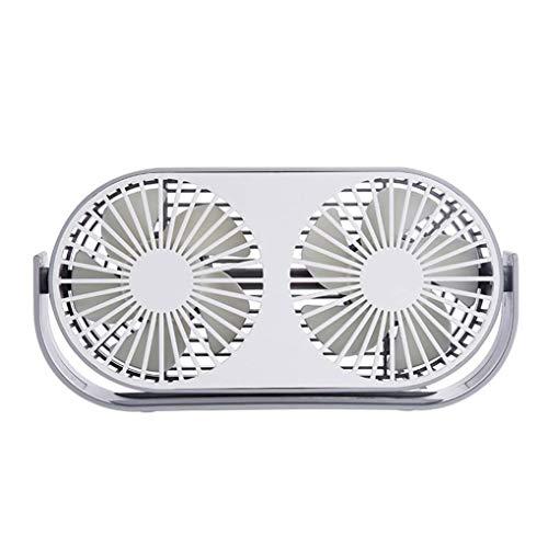 Ishua 1 PC USB-Ventilator Dual-Head Mini Tischventilator 360 Grad einstellbar 3 Geschwindigkeit Low Noise Aroma Aroma für Büro, Zuhause und im Freien Grad Gekippt Element