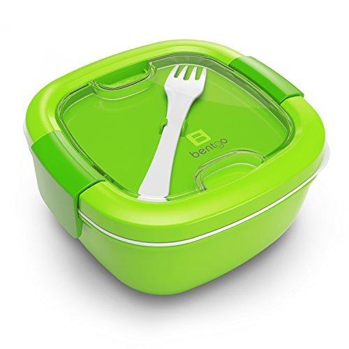 Bentgo Salad – Salatschüssel | Salatbox | Salat-to-go mit Besteck, Dressingbehälter & extra Unterteilungen, Grün | Lunchbox | Schule | Büro | Arbeit | Freizeit (Bento-sauce Container)