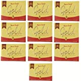 MYSORE SANDAL 10 Gold Soap with a Blend of Sandalwood Oil and Almond Oil Enriched with Moisturisers and Conditioners (125 g)