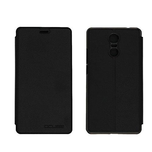Guran® PU Leder Tasche Etui für Bluboo Maya Max Smartphone Flip Cover Stand Hülle Case-schwarz