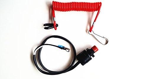 Boot Motor Kill-Stopp-Schalter & Sicherheit Tether Lanyard für Yamaha / Tohatsu / Honda Außenbordmotoren