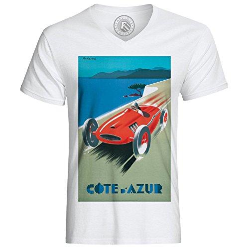 T-Shirt Cote D Azur Race Course Retro Vintage France Fast Furious