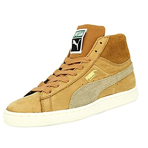Puma BASKET CLASSIC MID N CALM Brown Suede Leather Men
