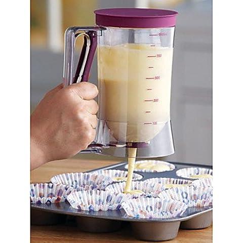 BWTCJ Stampo di cottura,dispenser pastella di torta con misura etichetta, 4-cup