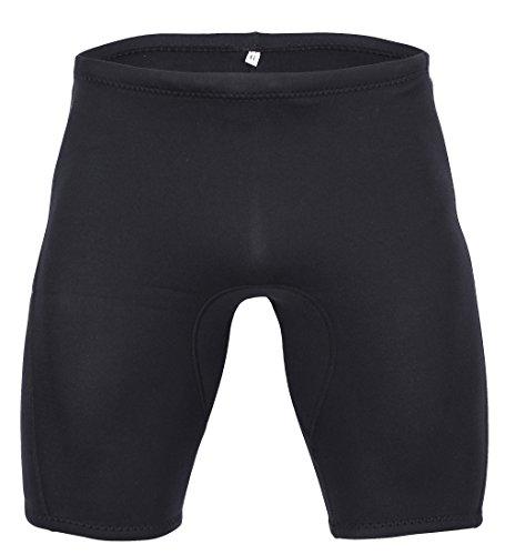 Simple Herren Neopren Short Badehose Extra Dick 3mm für Tauchen oder Schwimmen mit Kordelzug L, Herstellergr. 2XL (Surf Herren Shorts)