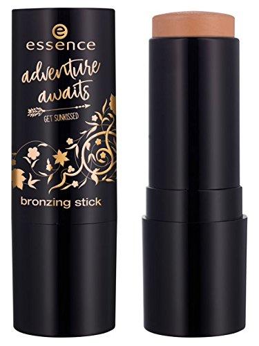 Essence adventure awaits get sunkissed bronzing stick Nr. 01 travel lover Inhalt: 13,6g Bronzing Stift - für einen natürlich gebräunten Teint auch nach dem Sommer. - Bronzing Stick