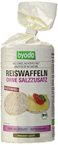 Byodo Reiswaffeln ohne Salzzusatz, 1er Pack (1 x 100 g Packung) - Bio