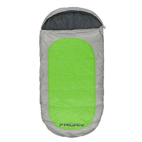 sack PG 180x90cm XXL Deckenschlafsack -12°C Grün warm wasserabweisend waschbar ()
