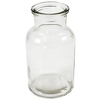 12 x Glasflaschen - Apothekerflaschen - Vasen H 10 cm