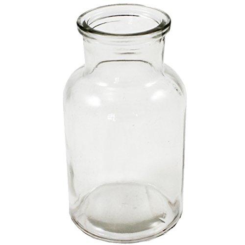 Annastore 12 x Glasflaschen Apothekerflaschen H 12,5 cm Dekoflaschen - Glas Flaschen - Deko Flaschen Vintage - Kleine Deko Vasen