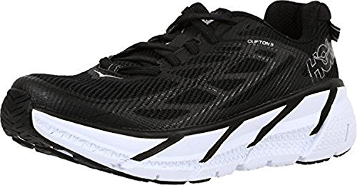 Hoka One One Clifton 3, Scarpe Running Donna, Nero (Black / Anthracite), 42 2/3 EU