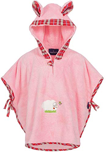Morgenstern, Poncho, 1-3 ans (One size), Couleur Rose, Sleepy Sheepy, en microfibre super soft
