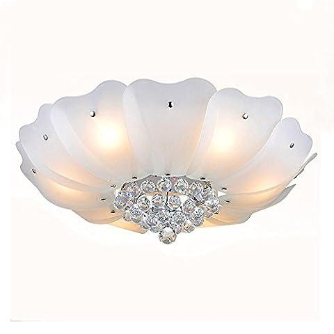 Flush Mount Modern Simple Crystal Glass Ceiling Lights Bedroom Living Room