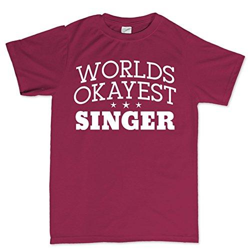 Worlds Okayest Singer Singing SM58 Mic T Shirt