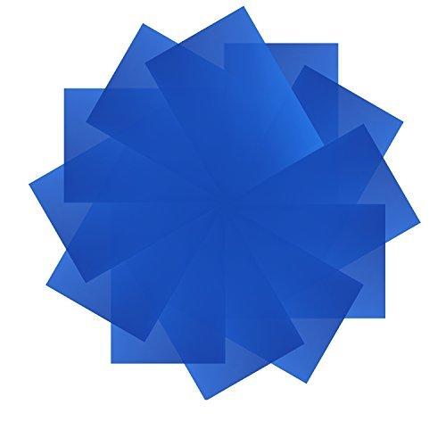 Neewer 12 Pack 8,5x11 Zoll / 21x28 Zentimeter Transparente Farbkorrektur Beleuchtung Gel Filter Set für Foto Studio Strobe Blitzlicht (blau) Strobe Set