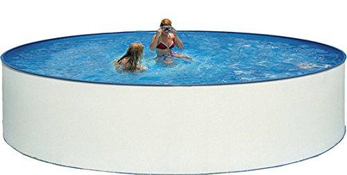 Steinbach Stahlwandpool Set Nuovo, weiß, 400 x 400 x 90 cm, 10200 L, 011090