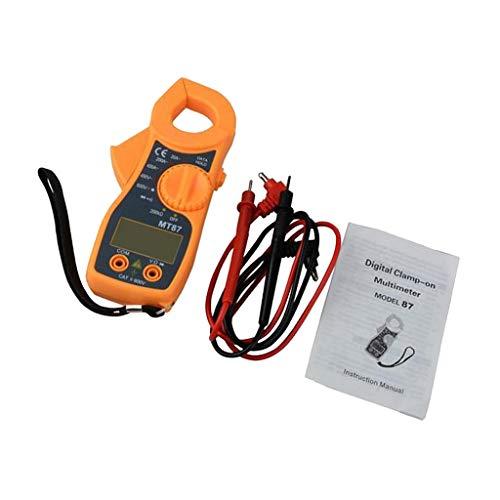 LOVIVER Digital Clamp Multimeter Mit Automatischer Bereichswahl AC/DC Spannungsstrom Widerstandstest - Orange 400a Digital Clamp