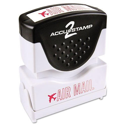 ACCUSTAMP2 - Accustamp2 Shutter Stamp with Microban, Red, AIR MAIL, 1 5/8 x 1/2 035593 (DMi EA by AccuStamp -