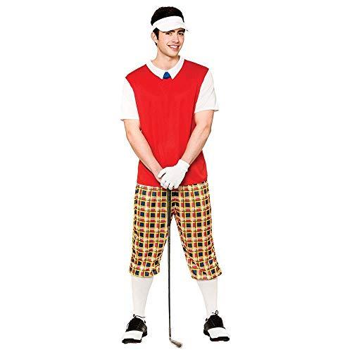 Für Golfer Erwachsenen Kostüm - Funny Pub Golfer (Kostume), Erwachsene