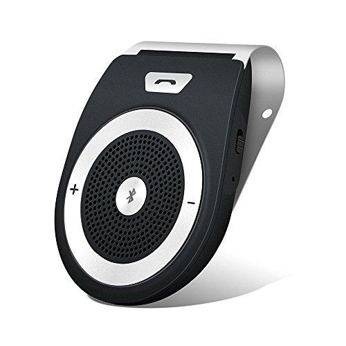 Tewtross Bluetooth Car Kit HandsFree Speaker V4.1 Speakerphone HD Audio Receiver with Motion Sensor Power On
