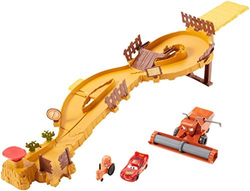 Image of Disney Pixar Toy Playset - Cars Escape From Frank Track Set with Lightning McQueen Car