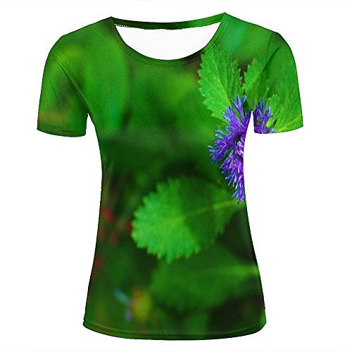 Fashion Womens Mens 3D Printed Photography - Flowers Mint Flower Graphic Short Sleeve Tee Tops Couple T-Shirts S (Junior Ringer T-shirt Design)