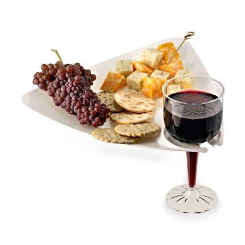 t Teller mit Getränkehalter 10Pack Party Teller mit Weinglas Halter ()