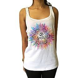 Camisetas de Manga Larga Namaste OM Flores Color explosión Yoga meditación Zen Print JTK731