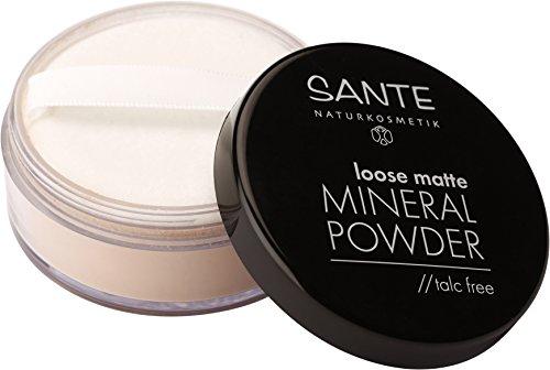SANTE Naturkosmetik Loose matte Mineral Powder, 02 Sand, Mattiertes Finish, Vegan, Bio-Extrakte,...