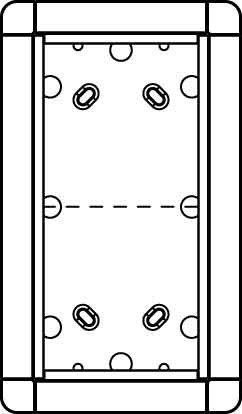 Preisvergleich Produktbild Ritto 1883270 Portier Rahmen AP 2fach weiss