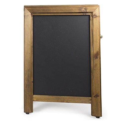 Kreidetafeln UK Premium quadratisch Top EIN Rahmen Tafel H: 780mm X W: 52x, Holz, schwarz, 62,5x 45x 5cm